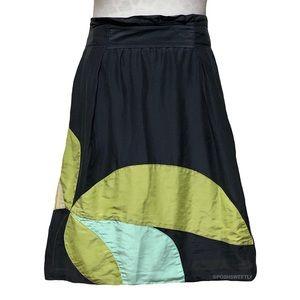 Nic & Zoe Cotton/Silk Patchwork Midi Skirt